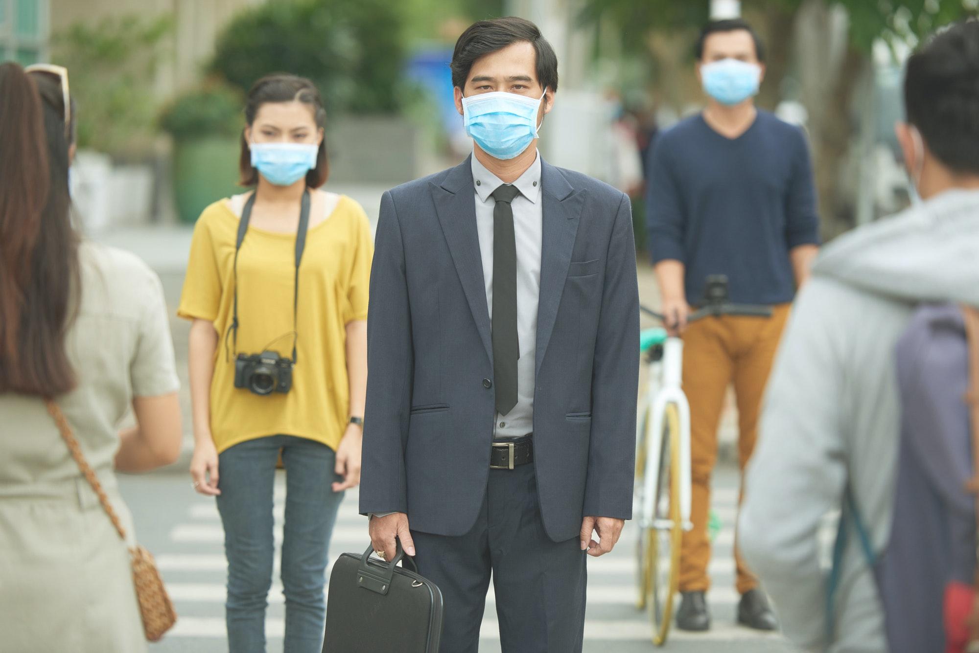 Air pollution concept
