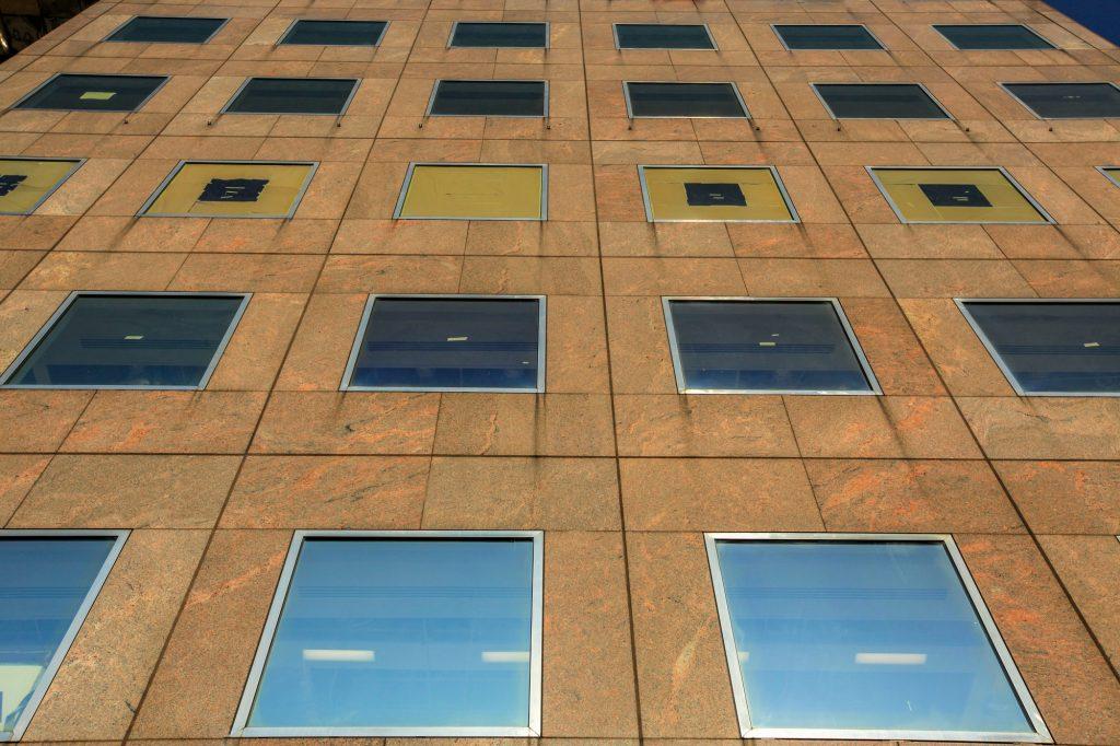 Facade of a commercial building